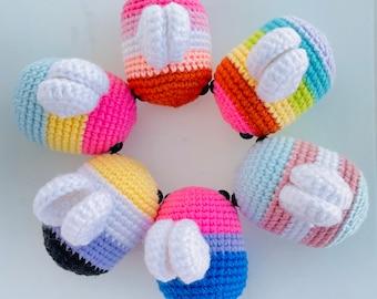 Pride Crochet Bee Plush