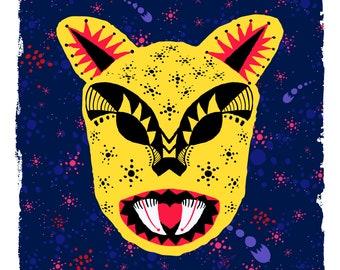 "Cosmic Jaguar ""Keep It Wild"" Digital Print"