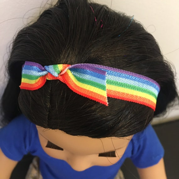 Pride Headband and Wristband set for 18 Inch Dolls like American Girl/Our Generation