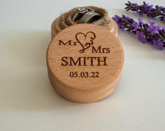 Personalised Wedding Ring Box | Wooden Ring Bearer Box | Engagement Ring Box | Wedding Ring Keep Sake Box | Anniversary Gift