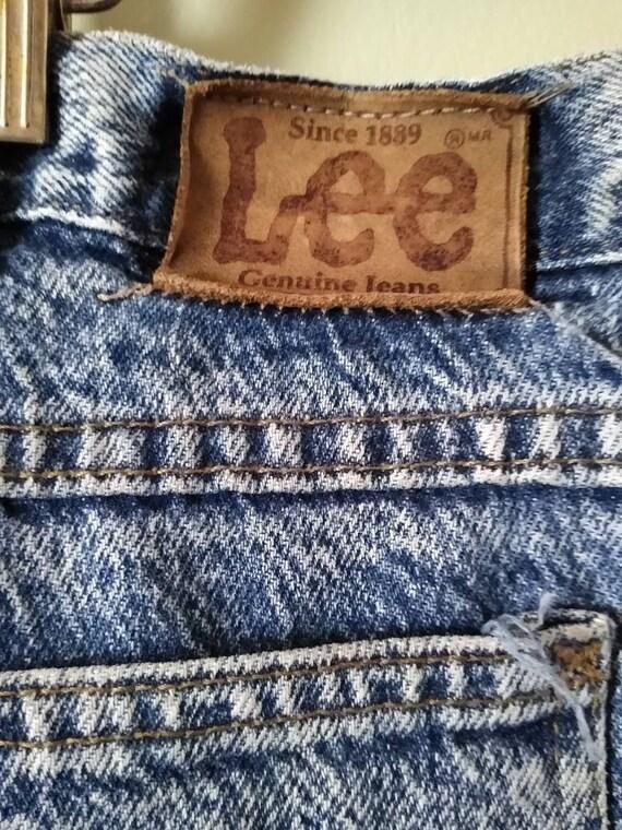Men's 42x28 Lee Jeans // Vintage 1980s Acid Wash - image 6