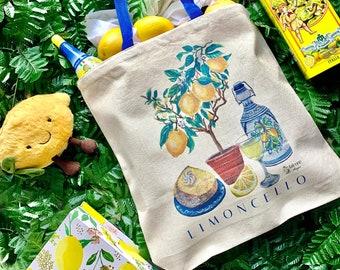 Limoncello Canvas Tote Bag | Italian Art
