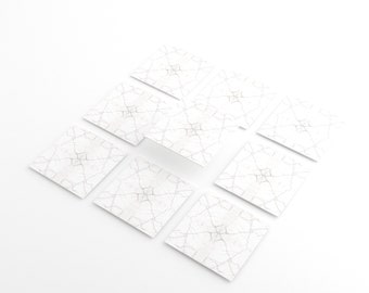TINK   Thick 0.5 mm Self-adhesive tile stickers   Plastic films  Tile Stickers Kitchen,Bathroom,Floors,Stairs and Wooden Surfaces(Marble White)