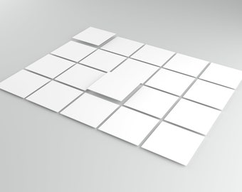 TINK   Thick 0.5 mm Self-adhesive tile stickers   Plastic films   Tile Stickers Kitchen,Bathroom,Floors,Stairs and Wooden Surfaces(White Matt)