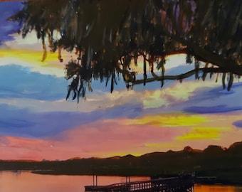 Sunset over Johns Island