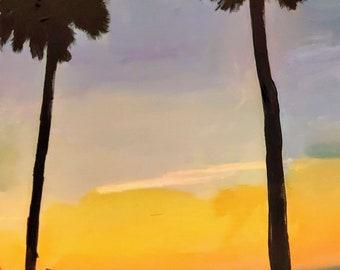 Beach Scene at Daybreak