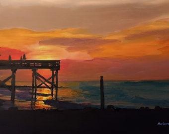 Pier at Sunset, Edisto Island,SC