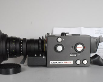 Leicina Special Schneider Optivaron 6-60mm + Super 8 film + serviced by a Leicina specialist  + near mint! + express delivery to US