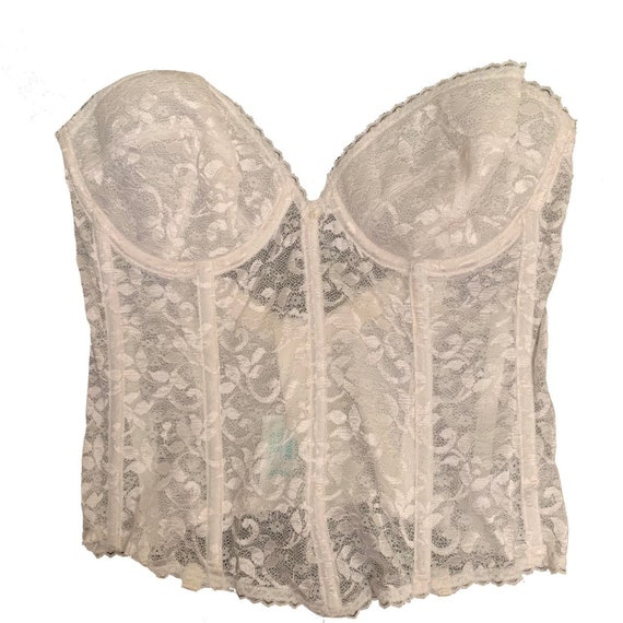 Vintage Made in USA Lace Corset - image 1