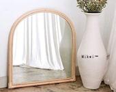 Arch Mirror, Wall Hanging Mirror, Home Decoration, Retro Rattan Mirror, Homestay Decoration, Bathroom Vanity Mirror ByMikwi