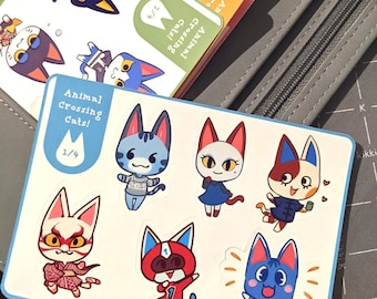 Animal Crossing Cats Journal Sticker Sheets