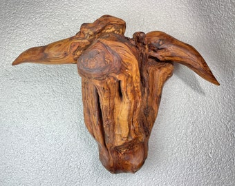The bull / Wood art work, plum wood, carving, wooden object, decoration, wood decoration