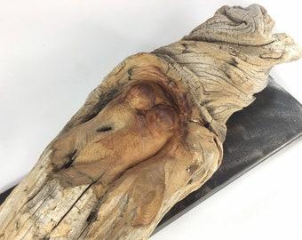 Frauenakt / Wood artwork, driftwood, carving, wooden object, decoration, wood decoration