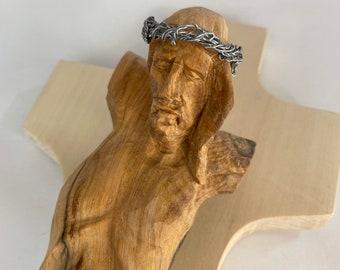 Wooden Cross // Wood Artwork Wood Art Driftwood Carving