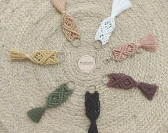 Macramé key ring – bag jewelry - Keychain