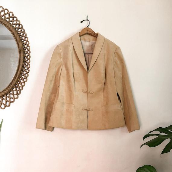Vintage 70s Tan Faux Suede Jacket