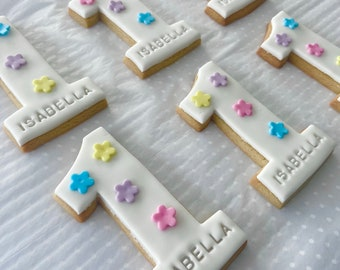 Personalised Childrens Birthday Cookies Letterbox Cookies Letterbox Biscuits Children's Age Cookies Children's Party Favours