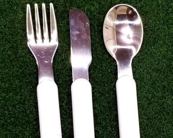 Sublimation Blank Flatware, Sublimation Utensils, Sublimation Cutlery Set, Sublimation Tableware, Sublimation Knife Fork Spoon Set