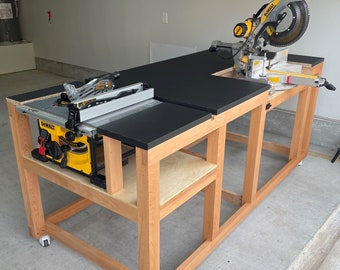 Mobile Miter / Table Saw Workbench Plans - Instant PDF Download