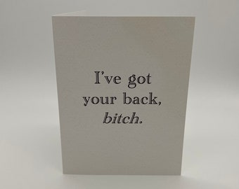 Got Your Back Greeting Card