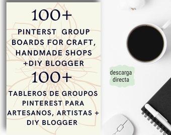 Pinterest Group Boards. Tableros Grupales de Pinterest para Artesanos, Artistas, Diseñadores, Fabricantes, Apasionados de DIY o Blogger
