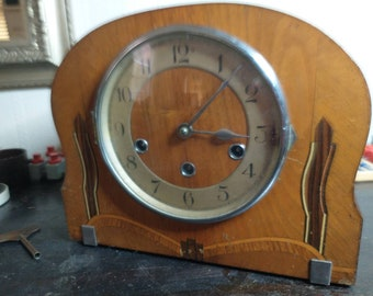 A 1950s Haller Mantel Clock ready for full restoration or use as is - Winchester Chimes
