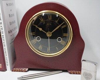 Smith Mantel Clock uniquely upcycled and converted to convient AA battery movement (quartz)