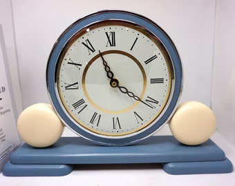 1970's mantel clock - UPCYCLED and converted to AA battery - a truly unique retro styled clock
