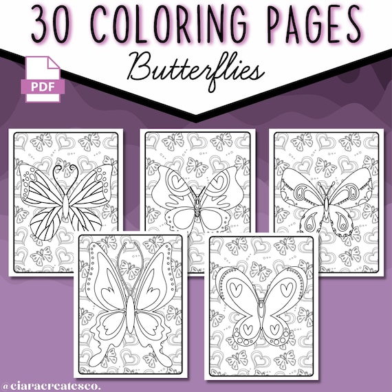 30 Butterfly Coloring Pages  Butterfly Coloring Pages For