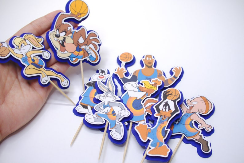 Space Jam Cupcake Toppers Space Jam A New Legacy Cake image 0