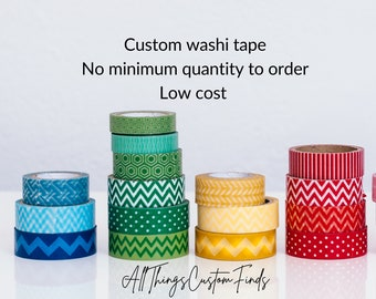 Custom Printed Washi Masking Tape 12mm with No minimum Order | Single Tape