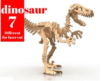 Dinosaur 7 Perfect files for Laser cut Files 2021 .v2 SVG DXF CDR vector plans, files Instant download, cnc pattern, cnc cut