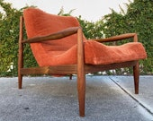 Mid Century Adrian Pearsall Scoop Lounge Chair