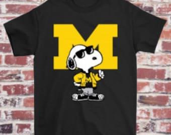 Michigan Wolverines Tumbler Snoopy Ncaa 2020 Funny Gift Idea Xmas