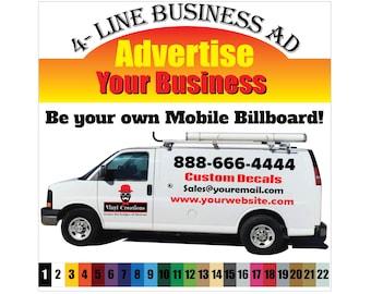 Custom Personalised Car Van Sticker Vinyl Decal Design Business Logo Advertise