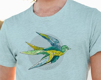 Alligator Swallow T-Shirt   Outdoor shirt   Gift for dad   Gift for Uncle   Hiking shirt   Graphic Tee