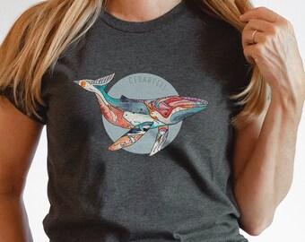 Humpback Whale T-Shirt   Short-Sleeve Shirt   Genderless Shirt   Unisex   Whale shirt
