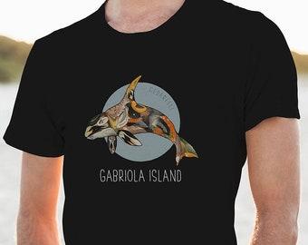Gabriola Island Orca T-Shirt   Orca Shirt   Whale T Shirt   Killer Whale shirt   BC Canada
