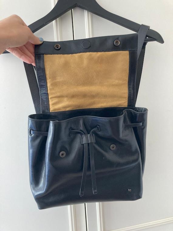 Vintage Halston Heritage black leather backpack - image 10