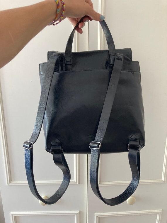 Vintage Halston Heritage black leather backpack - image 2
