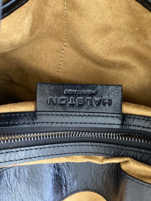 Vintage Halston Heritage black leather backpack - image 8