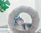 Portable Transformable Cat Bed Foldable Washable Scratch Resistant Cat Cave Cat Tent Cat Hut Pet Mat Cat Bed Outdoor Soft for Cats