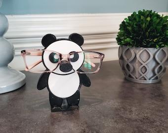 Panda Glasses Holder, Panda Eyeglasses Holder, Glasses Stand, Stocking Stuffer and Unique Gift Idea
