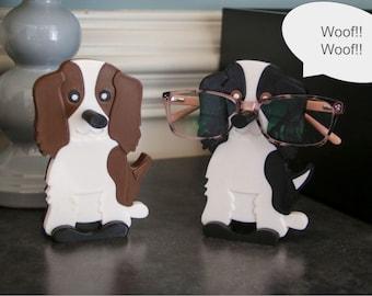 Scout the Spaniel Eyeglasses Holder, Dog Glasses Holder, Spaniel Glasses Stand