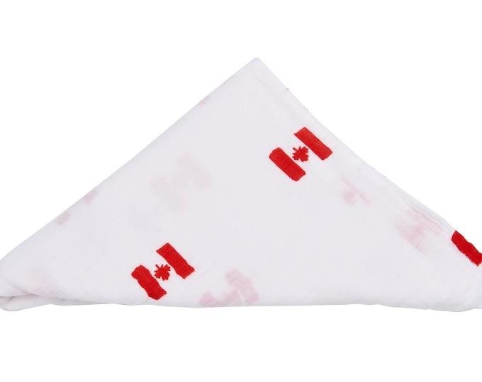 i am Canadian - baby swaddle blanket 100% organic cotton