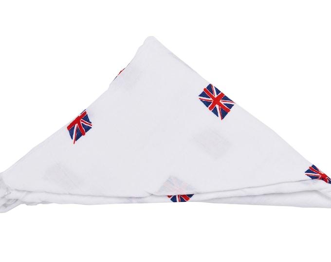 i am Brittish - baby swaddle blanket 100% organic cotton