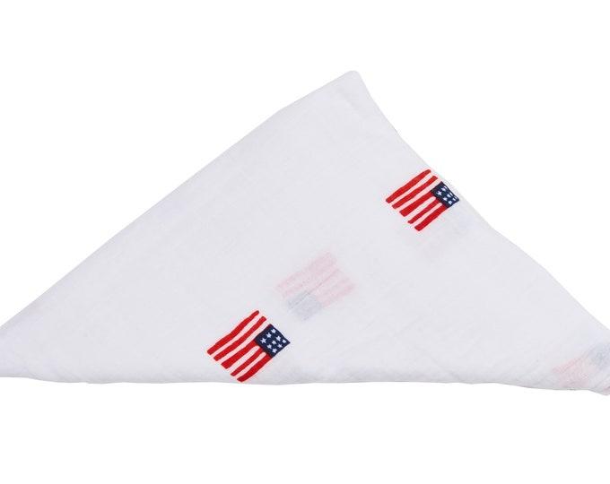 i am American - baby swaddle blanket 100% organic cotton