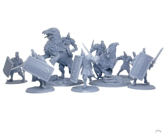 Light Alliance * 3D Printed miniatures * Orc King
