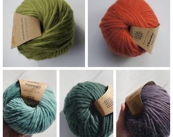 Knitato Merino Wool Chunky Yarn Bulky Yarn 200g (19 colors)