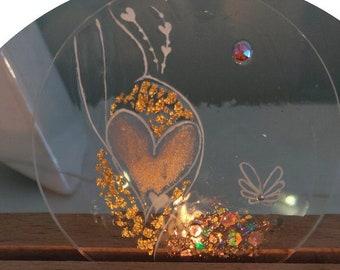 Decorative energy magic candle holder pregnant woman
